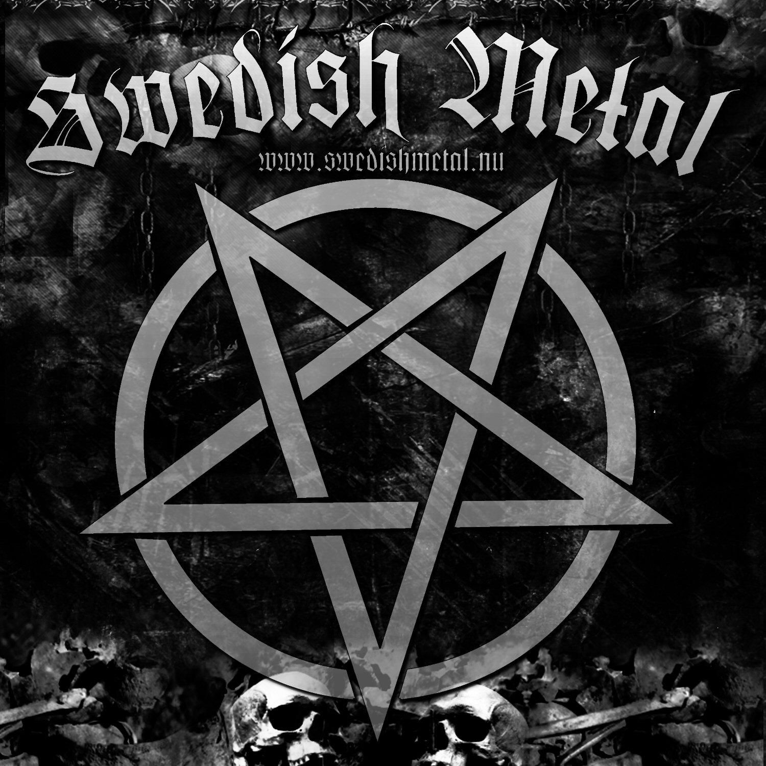 Swedish Metal pentagram gray