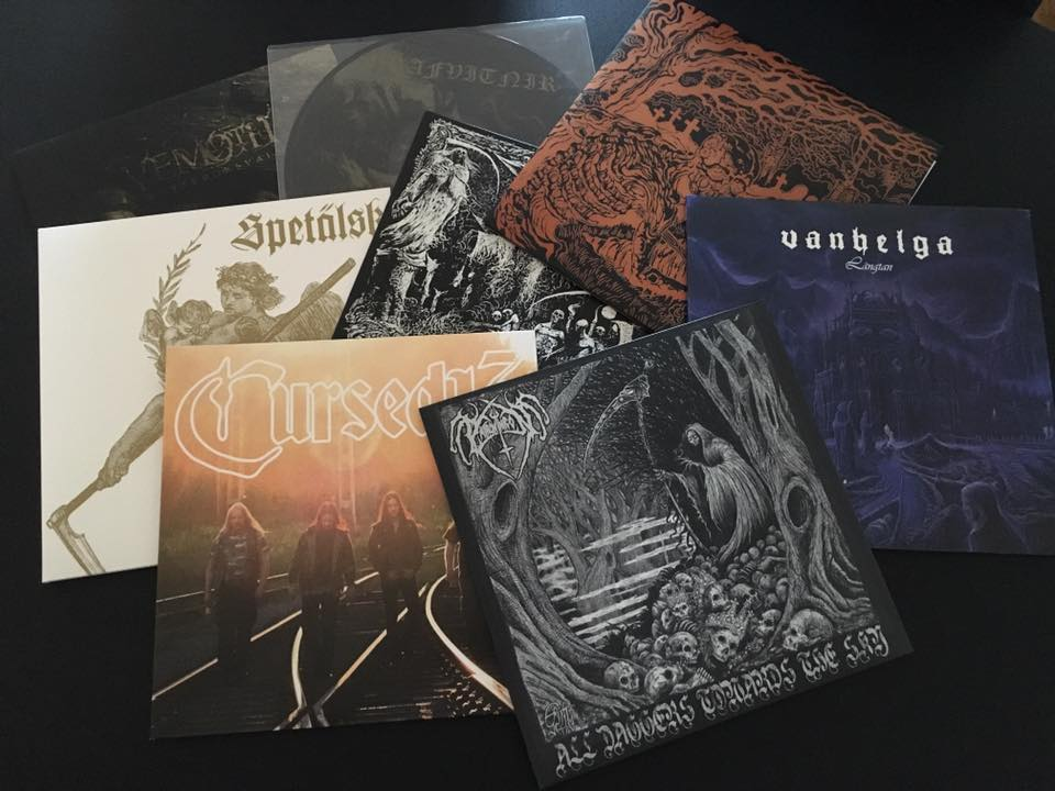 New black metal vinyls in collection august2016
